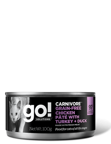 GO! SOLUTIONS CARNIVORE Chicken Pate with Turkey and Duck