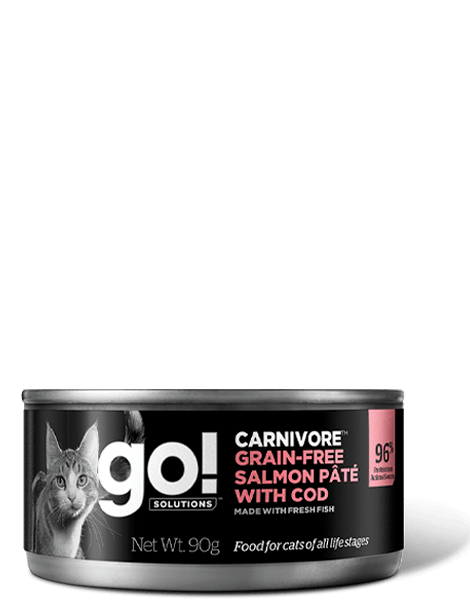 GO! SOLUTIONS CARNIVORE Salmon Pate with Cod